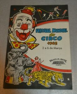 1962 Festival Mundial of Circus Programme Porto Portugal