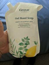 Grove Collaborative Gel Hand Soap Lemon Eucalyptus & Mint 32 Fl Oz