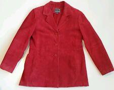 A.R. genuine leather women's jacket. Red. Medium.