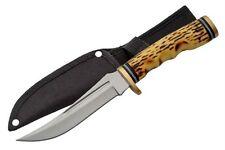 """9.5"""" STAG UPSWEPT SKINNER HUNTING KNIFE razor sharp skinning survival"""
