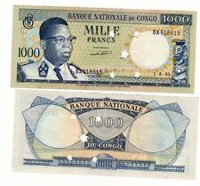 CONGO Billet 1000 FRANCS 1.8. 1964 ANNULE P8 NEUF UNC