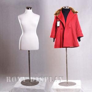 White Color Female Size 14-16 Mannequin Manikin Dress Form #F14/16W+BS-04