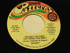 """Brandy 7"""" 45 OBSCURE PRIVATE MICHIGAN MODERN SOUL COVER on SOUND PATTERNS"""