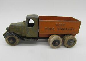 Vintage 1930's Tootsietoy Mack City Fuel Company Truck Two Tone - Original