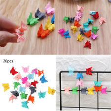 20Pcs Mini Hair Claws Multi Color Child Hair Clips Butterfly Shape Hair Clamps