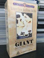 Giant VHS tape (2 tapes) 1956 Rock Hudson / James Dean drama movie