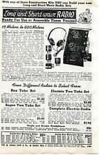 1940 small Print Ad of Philmore Long & Short Wave Radio Kit 15 to 600 meters
