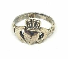 Vintage Sterling Silver Irish Claddagh Ring Size 7