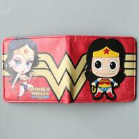2017 New Moviels Wonder Woman Bifold Coin Wallet Mens Woman Deadpool Short Purse