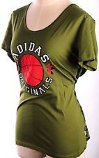 Adidas Camo Deep Round Neck Womens Scoop Green Girls T-shirt Camouflage Back