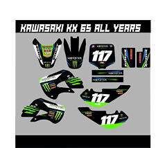 KAWASAKI KX 65 FULL GRAPHICS KIT DECALS MOTOCROSS STICKERS ALL YEARS