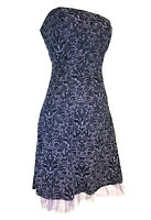 SALE! Tripp NYC Brocade Corseted Lace Up Dress Goth Gothic Rockabilly 10 - 12