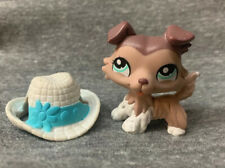 Littlest Pet Shop LPS Authentic Rare Collie Dog #1330 with accessories