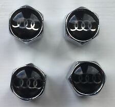 AUDI VALVE CAPS TYRE WHEEL DUST CAPS X4 A3 A4 A5 A6 Rs4 S4