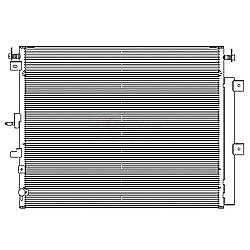 NEW AC CONDENSER FOR 2015-2016 FORD EDGE FO3030258 CND30006