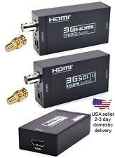 HDMI over single SDI or RG6 Coax Cable Extender Balun Sender Receiver BNC 328ft