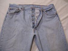Levis 501 Mens Buttonfly Jeans Size 38x30 Denim Blue Jeans Pants Red Tab Cotton