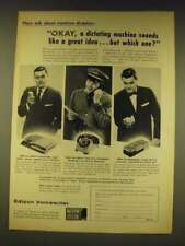1960 Edison Voicewriter, Televoice and Midgetape Ad - Okay, a dictating machine