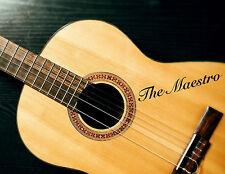 2 x Chitarra Personalizzata Nome Adesivi In Vinile Testo per bassi acustico personalizzato