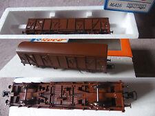 WAGON MARCHANDISE brun long DB ROCO HO coach waggon + boite box 46416  R30