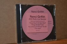 BEATLES REL.: NANCI GRIFFITH; AAA RADIO LIVE SAMPLER PROMO ONLY CD W/ RARE SONG