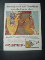 1955 Philip Morris Cigarettes Vintage Tobacco Great Art Vintage Print Ad 10818