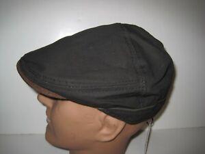 Stetson cotton hybrid newsboy driving cap HAT dark brown XL