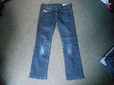 "Diesel Ronhary Jeans Waist 28"" Leg 28"" Faded Dark Blue Ladies Jeans"