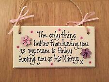 Personalised Nan Nanny Nana Nanna Wooden plaque Birthday/Xmas/Easter Gift