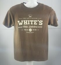 Pre Owned Whites Metal Detectors Mens T Shirt Size Small  Relic Hunting Y6