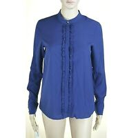 Camicia Donna Blusa TOY G by PINKO Made in Italy LU330 Camicetta Blu Tg 42