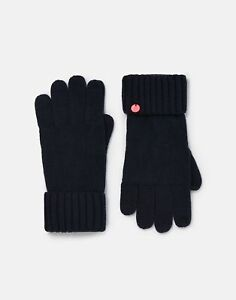 Joules Womens Joanie Knitted Gloves - French Navy - One Size