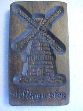 Vintage Stellingmolen Carved Wood Cookie / Biscuit Press