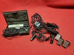 Vintage Sony Aiwa Assorted Microphone Mic Accessories