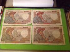 50 Francs Jacques Cœur Lot De 4 Billets