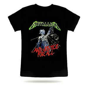 METALLICA AND JUSTICE FOR ALL TSHIRT HEAVY METAL ROCK BAND SHORT SLEEVE