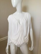 Vivienne Westwood Red Label White Viscose Sleeveless Draped Blouse Sz S
