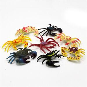 8x Kawaii Simulation Animals Sea Crab Model Figurine Terrarium Craft PVC toys^qi