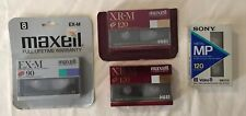 Maxell Hi 8 XR-M/EX-M Metal 120 min Camcorder Tapes Digital - 4 Pack New Sealed
