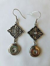 Wisp Earrings, holds 12mm Snaps Auth Ginger Snaps Brand Petite