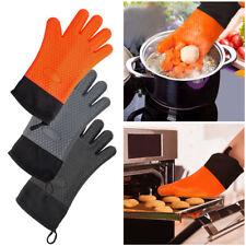 Nuevos guantes de silicona resistentes al calor Cocina BBQ Horno Manoplas Nuevo