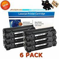 6 PK Compatible CE285A 85A Toner for HP LaserJet P1102 P1102w M1212nf M1217nfw