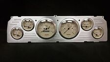 1964 1965 1966CHEVY TRUCK 6 GAUGE DASH CLUSTER TAN