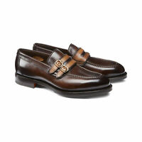 Brown Handmade Double Monk Classic Loafers for men custom leather shoe for men