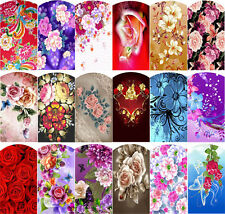 Blumen - Wraps Nail Art Tattoo Sticker Decal Fingernägel Fuß-Nägel Aufkleber