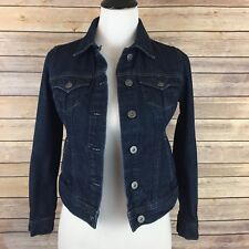 TOMMY HILFIGER Denim Jacket Sz XS Dark Wash Jean Women's Classic Extra Small