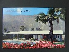 Palm Springs California CA Dinah Shore George Montgomery Home Postcard 1950s