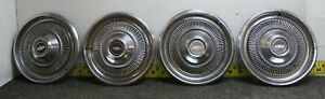 "OEM GM Set of 4 15"" Hub Caps Wheel Covers 3042 03968761 1974 Chevelle... (1216)"