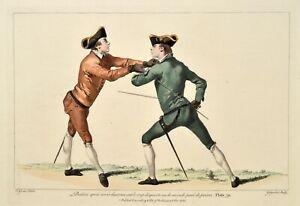 Angelo 1763 L'Ecole des Armes Fechten Fencing Escrime Plate 39 Original print