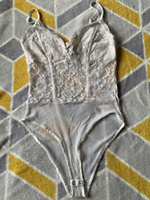 New Look White Lace Bodysuit Size 10